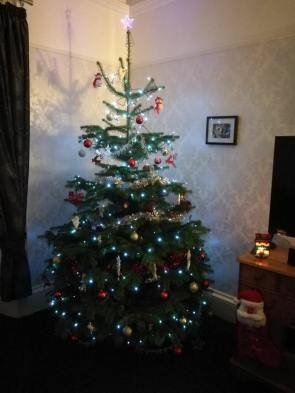 Decorated Nordmann FirSholach Tree from a happy customer